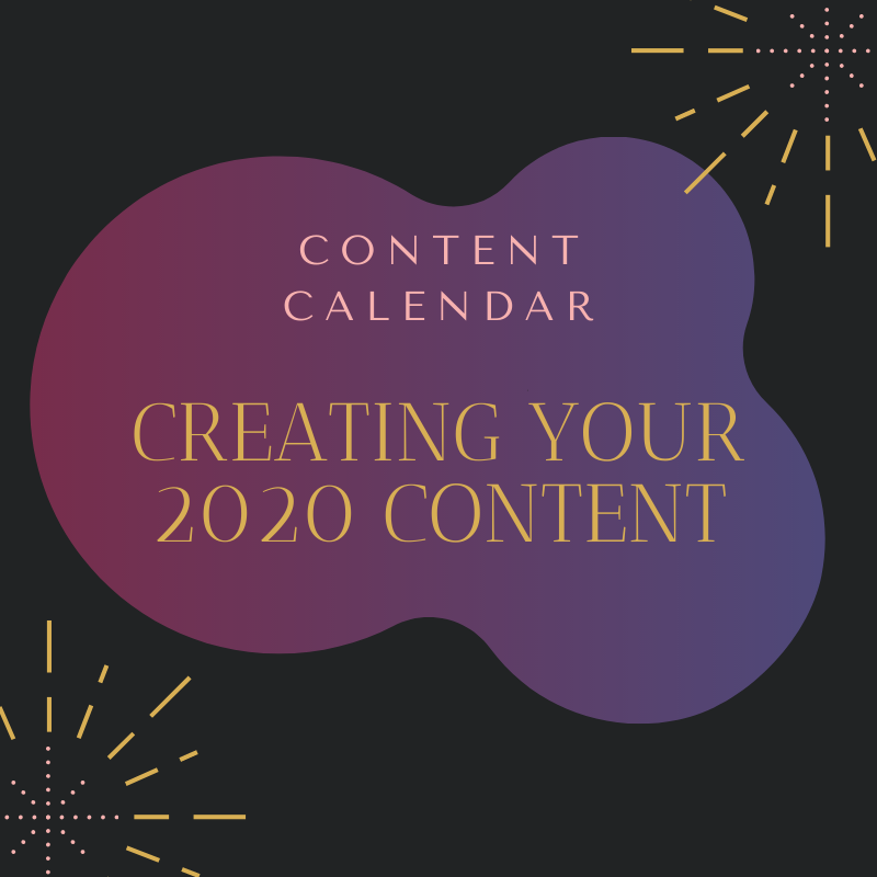 Creating Your 2020 Content - Content Calendar - Adams Edge Marketing