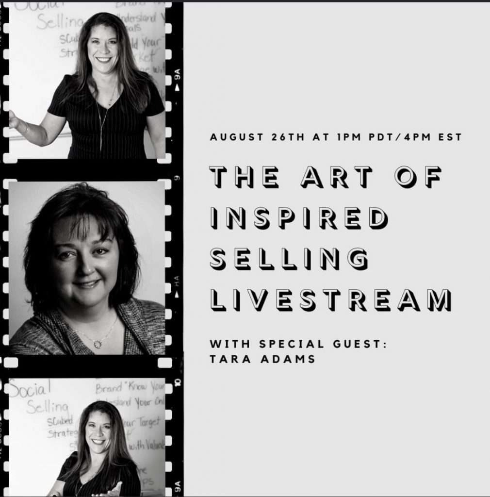 Tara Adams Live Event with Kathryn Evans on the Art of Inspired Selling